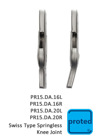 Swiss Type Springless Knee Joint16L
