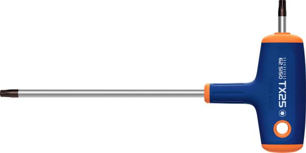 Screwdriver with Haptoprene® T-handle for Torx® TX25