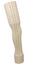 Above knee cosmetic foam, 40cm, right